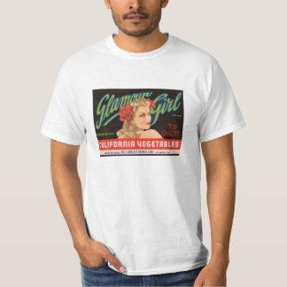 Camisa de la etiqueta del chica del encanto del