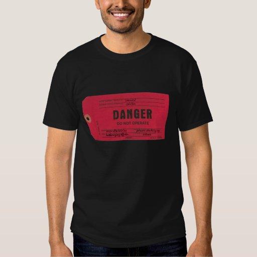 Camisa de la etiqueta del peligro