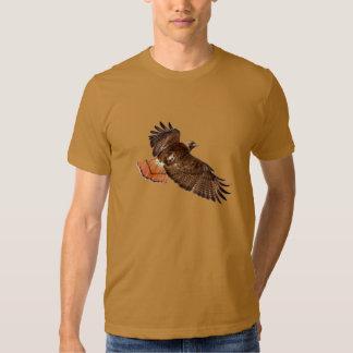 Camisa de la fauna del halcón de la Rojo-Cola
