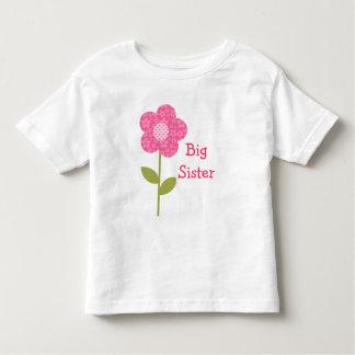 Camisa de la flor del rosa de la hermana grande