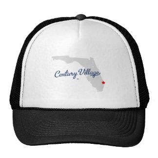 Camisa de la Florida FL del pueblo del siglo Gorros Bordados