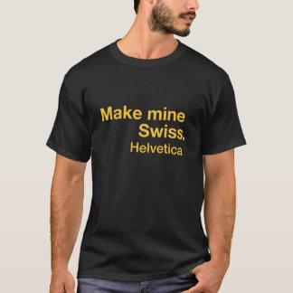 Camisa de la fuente - amarillo Helvética