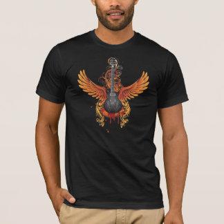 Camisa de la guitarra del vuelo del Grunge