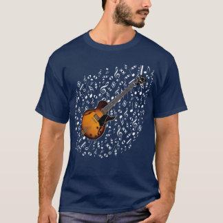 Camisa de la guitarra eléctrica del resplandor