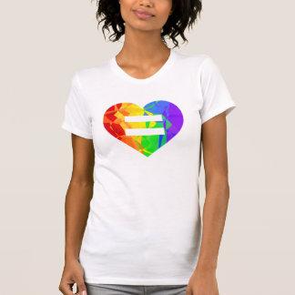 Camisa de la igualdad de la boda del corazón del