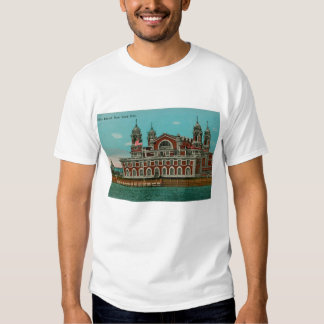Camisa de la isla de Ellis, New York City del