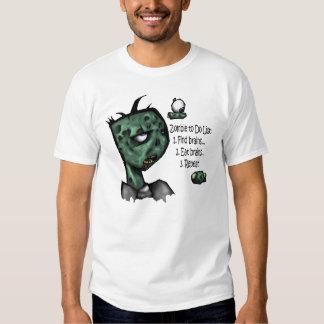 Camisa de la lista de lío del zombi