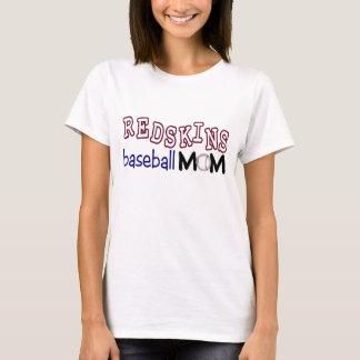 Camisa de la mamá del béisbol de las pieles rojas