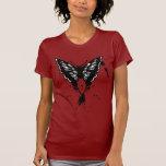Camisa de la mariposa con la mariposa pintada