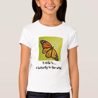 Camisa de la mariposa del niño
