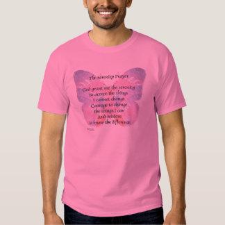Camisa de la mariposa del rezo de la serenidad