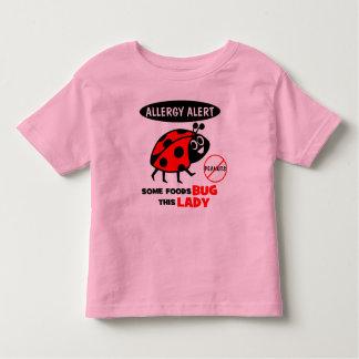 Camisa de la mariquita de la alarma de la alergia