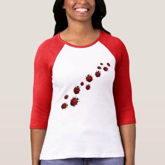 Camisa de la mariquita del jersey del béisbol de