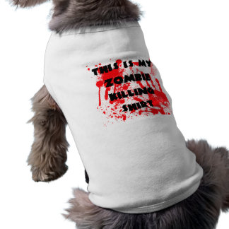 Camisa de la matanza del zombi del perrito playera sin mangas para perro