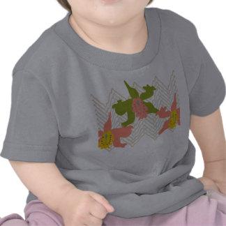 camisa de la materia textil de la orquídea