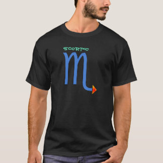 Camisa de la muestra del zodiaco del escorpión