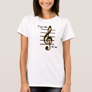 """Camisa de la música, """"conseguí la música en mí """""""