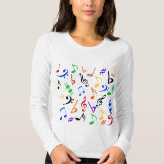 Camisa de la música de las notas musicales