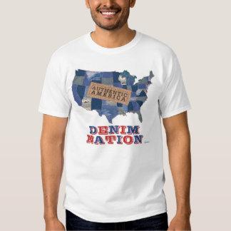 Camisa de la NACIÓN del DRIL DE ALGODÓN