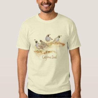Camisa de la naturaleza de las codornices de