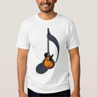 Camisa de la nota de la guitarra eléctrica del