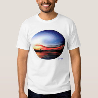 Camisa de la onda de la puesta del sol