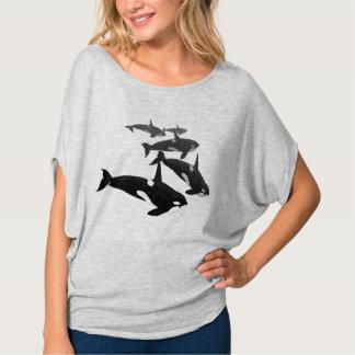 Camisa de la orca del tamaño extra grande de la