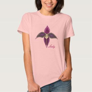 Camisa de la orquídea de señora deslizador