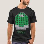 Camisa de la oscuridad de la impresión