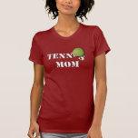 Camisa de la oscuridad de la mamá del tenis