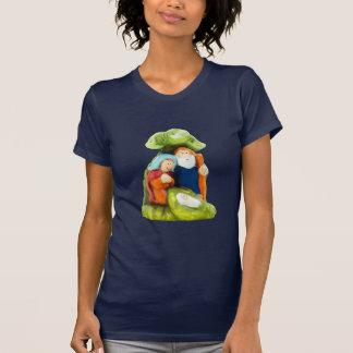 Camisa de la oscuridad de las mujeres del pesebre