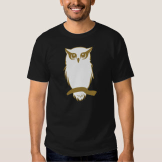 Camisa de la oscuridad del búho de los miembros