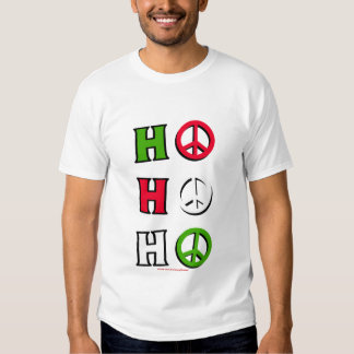 """Camisa de la paz del navidad """"ho ho ho"""" -"""
