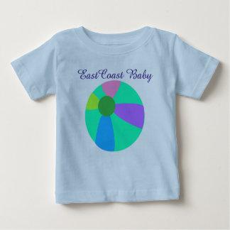 Camisa de la pelota de playa del bebé de la costa