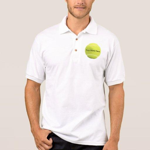 Camisa de la pelota de tenis su nombre aquí