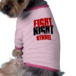 Camisa de la perrera de la noche de la lucha para  camiseta de mascota