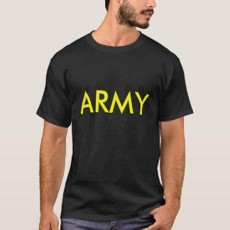 Camisa de la pinta del negro y del oro del