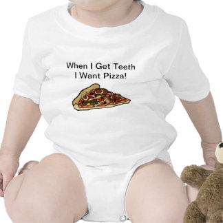 Camisa de la pizza del bebé - cuando consigo los