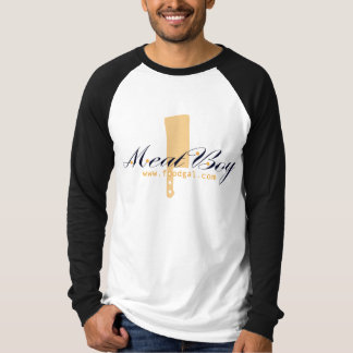 Camisa de la raglán-manga del logotipo del