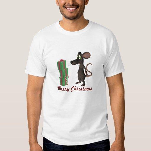 Camisa de la rata de Toon del navidad