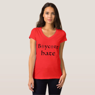Camisa de la resistencia del odio del boicoteo