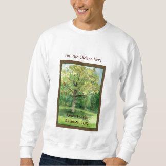Camisa de la reunión de familia, más vieja, árbol