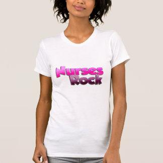Camisa de la roca de las enfermeras de las mujeres