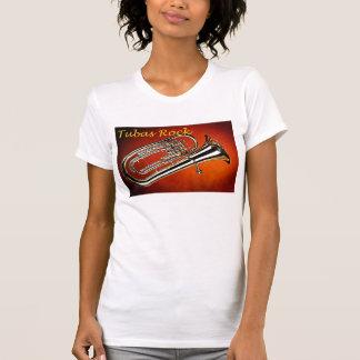 Camisa de la roca de las tubas del oro