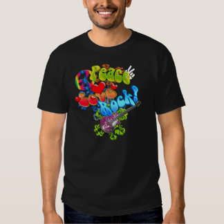 Camisa de la roca del amor de la paz