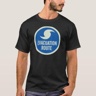 Camisa de la ruta de la evacuación del huracán