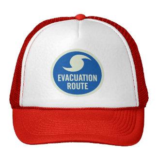 Camisa de la ruta de la evacuación del huracán gorras de camionero