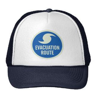 Camisa de la ruta de la evacuación del huracán gorro de camionero