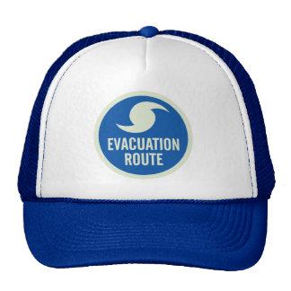 Camisa de la ruta de la evacuación del huracán gorros bordados