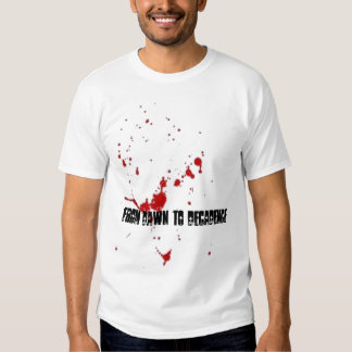 Camisa de la salpicadura de la sangre